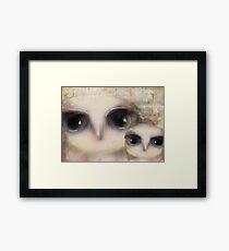 little owls Framed Print