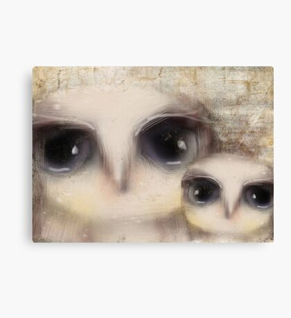 little owls Canvas Print