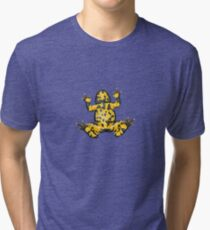 Yellow-bellied Toad (Bombina variegata) Tri-blend T-Shirt