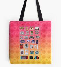 Pink Pixel Art Consoles Tote Bag