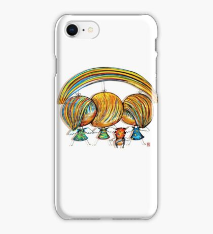 A Rainbow of Angels iPhone Case/Skin