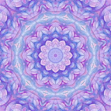 Purple Flower Mandala by kellydietrich