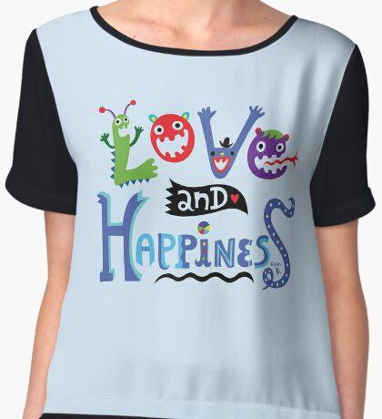 Love and Happiness  Women's Chiffon Top