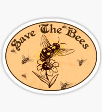 SAVE THE BEES HONEY FLOWERS NATURE FOOD HEALTH OUTDOORS ENVIRONMENT Sticker
