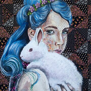 White Rabbit Floral  by fugitiverabbit