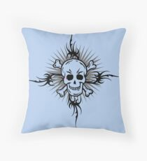 Skull & Tattoo    Throw Pillow
