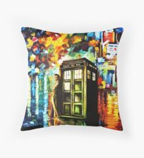 Fun Watercolor Time Lord Art Painting Throw Pillow