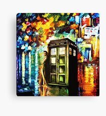 Fun Watercolor Time Lord Art Painting Canvas Print