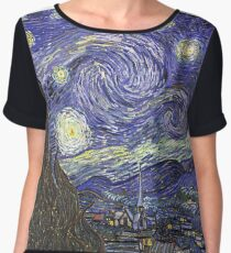 'Starry Night' by Vincent Van Gogh (Reproduction) Chiffon Top