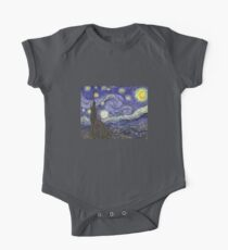 'Starry Night' by Vincent Van Gogh (Reproduction) One Piece - Short Sleeve