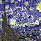 'Starry Night' by Vincent Van Gogh (Reproduction) by Roz Abellera Art Gallery