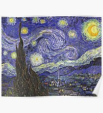 'Starry Night' by Vincent Van Gogh (Reproduction) Poster