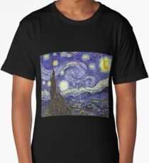 'Starry Night' by Vincent Van Gogh (Reproduction) Long T-Shirt