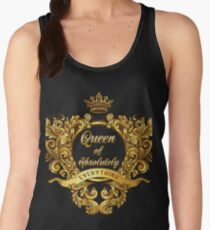 Queen of Absolutely Everything Gold Baroque Women's Tank Top