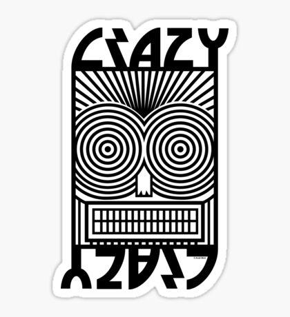 Crazy   Sticker