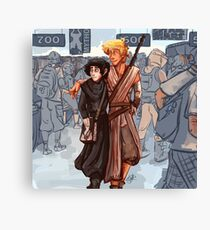 Nico and Will CosPlay Canvas Print