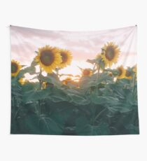 Sunflower Sunset Wall Tapestry