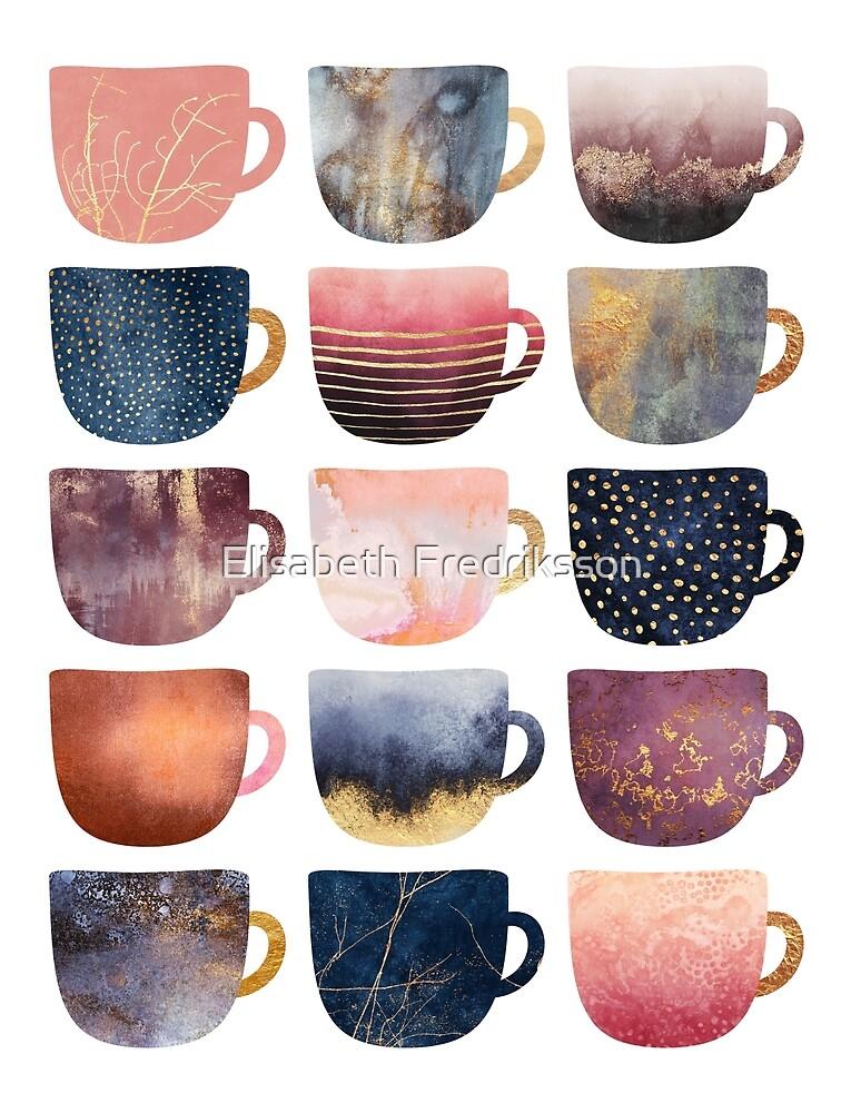 Pretty Coffee Cups 2 by Elisabeth Fredriksson