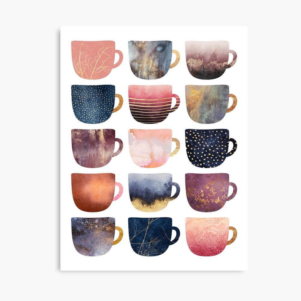 Pretty Coffee Cups 2 Lienzo