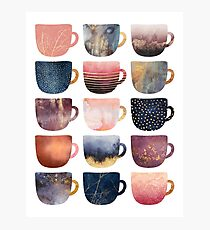 Pretty Coffee Cups 2 Photographic Print