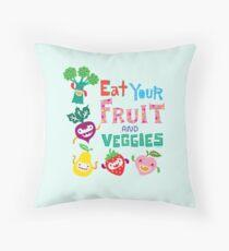 Eat Your Fruit & Veggies  Throw Pillow