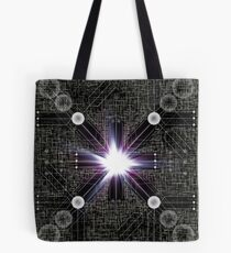 「Cryptic Schematic」 Core of the Planetary Guardian Mainframe Tote Bag