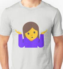 Person Shrugging Emoji Unisex T-Shirt