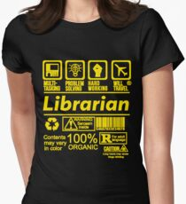 LIBRARIAN EXCLUSIVE DESIGN   READ MY ARTIST NOTE FOR MORE Womens Fitted T-Shirt