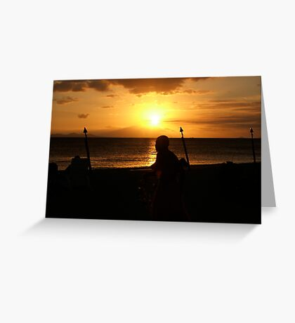 Fijian Sunset 2 Greeting Card