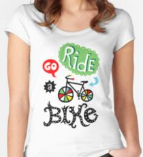 Go Ride a Bike   Women's Fitted Scoop T-Shirt