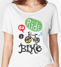 Go Ride a Bike   Women's Relaxed Fit T-Shirt