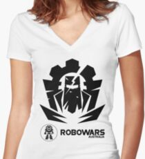 Robowars STAFF COMPETITOR Design Vivid 2017 Women's Fitted V-Neck T-Shirt