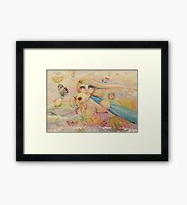 rainbow angel Framed Print