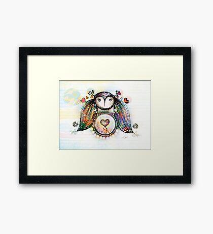 Love and Light Owl Framed Print