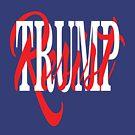 Resist Trump Interlaced Text by EthosWear