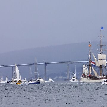Tall Ships Leaving Hobart by grmahyde