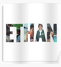 Ethan Dolans name made up of pictures of him Poster