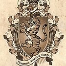 Tiger Coat Of Arms Heraldry by Heather Hitchman