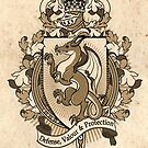 Dragon Coat Of Arms Heraldry by Heather Hitchman