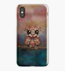 little rainbow flower owl iPhone Case