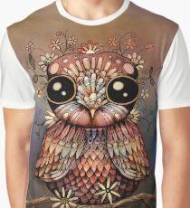 little rainbow flower owl Graphic T-Shirt