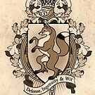 Fox Coat Of Arms Heraldry by Heather Hitchman