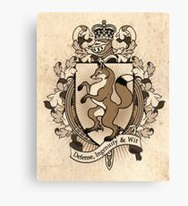 Fox Coat Of Arms Heraldry Canvas Print