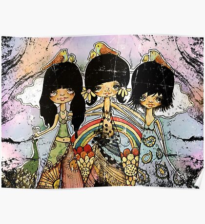 hippy chicks Poster