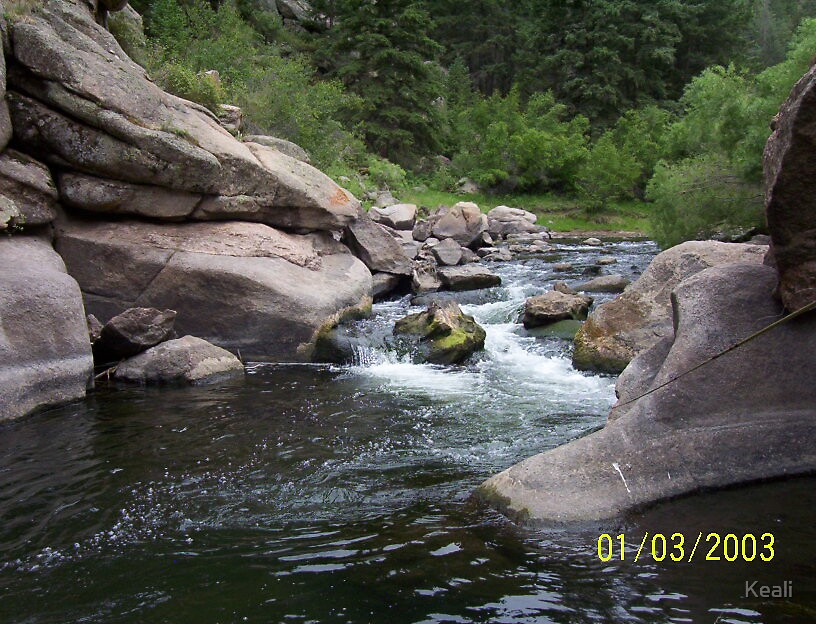 Tiny Waterfall by Keali