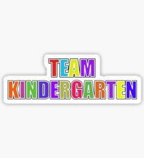 Colorful Team Kindergarten Sticker