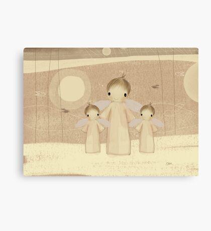 trio of angels Canvas Print
