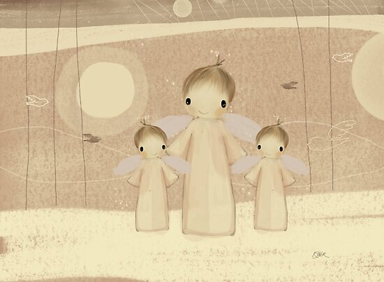 trio of angels by Karin Taylor