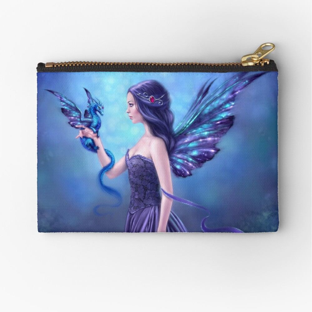 Iridescent Fairy & Dragon Zipper Pouch