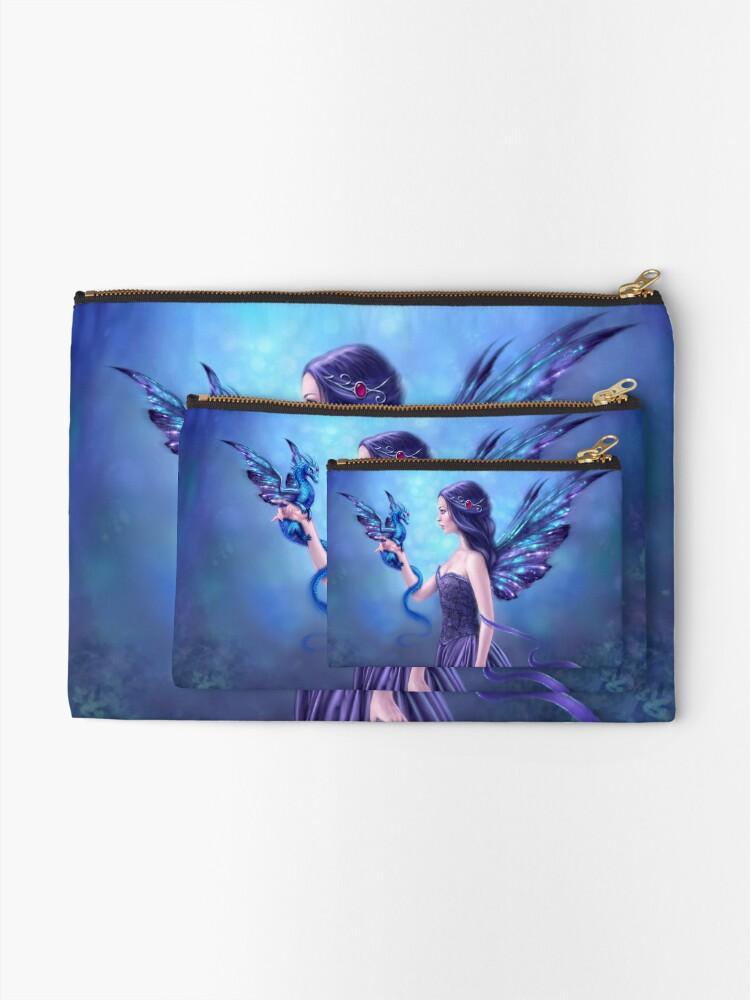 Alternate view of Iridescent Fairy & Dragon Zipper Pouch